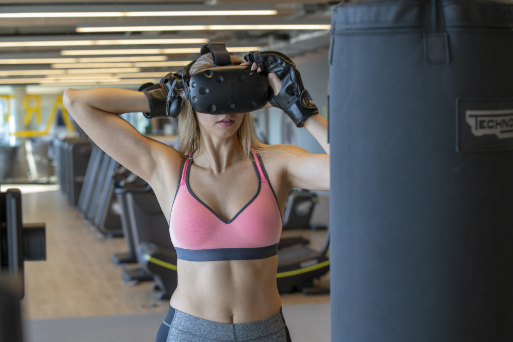 Immersive Fitness Gaming Player